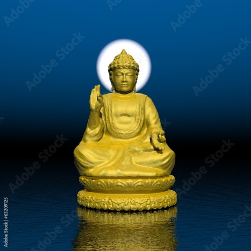 Night meditation - 3D render