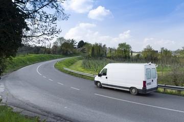 furgone in viaggio