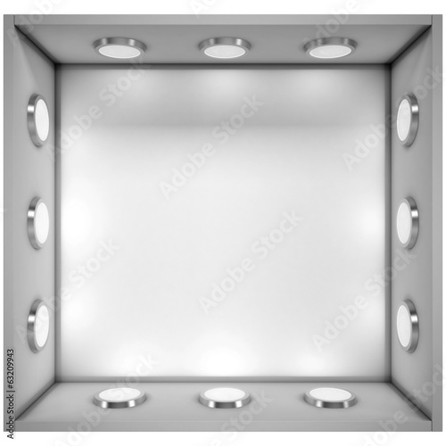 White shelf with a light source