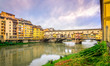 View of famous Ponte Vecchio bridge in Florence