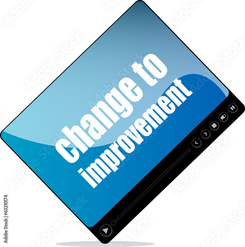Video player for web with change to improvement words
