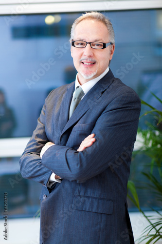 canvas print picture Senior businessman in his office