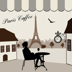 Parisian street restaurant