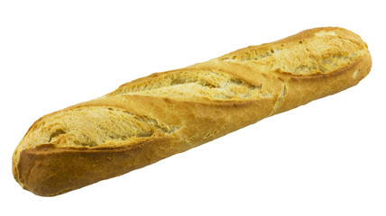 French baguette. isolated on white background