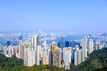 Scenery from Victoria Peak, Hong Kong, China