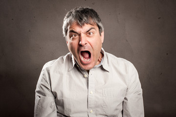 man with angry expression