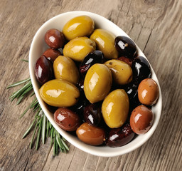 Mix of olives.