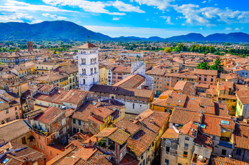 Scenic view of Lucca village in Italy
