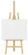 Isolated Easel and Canvas.