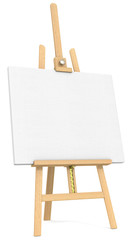 Easel and Canvas.