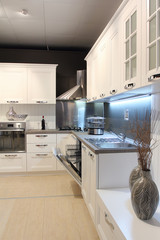 Modern kitchen vertical view