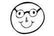 Smiley mit Brille...