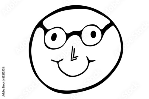 Smiley mit Brille...