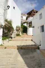 Steps street in the village of Ojen, Spain