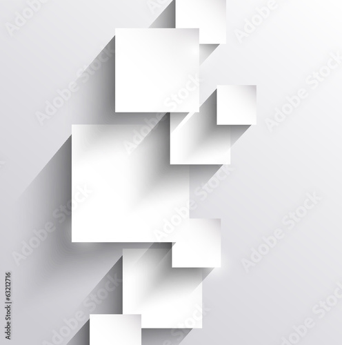 Abstract background with paper squares