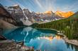 Leinwandbild Motiv Moraine lake