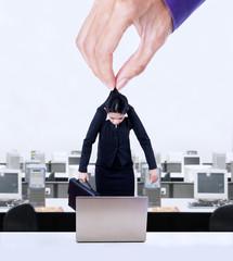 Employee exploitation concept