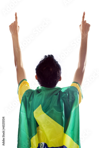 Expressive brazilian fans isolated