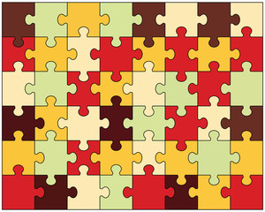 Vector illustration of colorful puzzle for game
