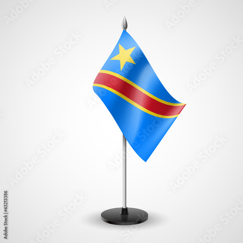 Table flag of Democratic Republic of the Congo