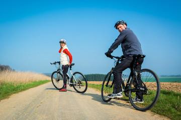 Aktiv mit dem Fahrrad unterwegs