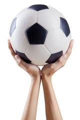 Hands holding soccer ball 1