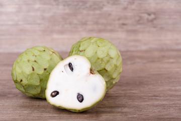Tropical custard apple fruit