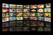 Cyfrowy zbiór zdjęć w telewizji internetowej.