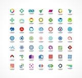 Fototapety Set of icon design elements. Abstract logo ideas.