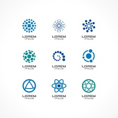 Set of icon design elements. Abstract logo ideas.