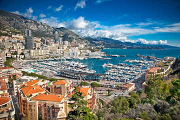 Panoramic view of  Monte Carlo.