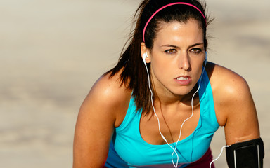 Female runner determination on training