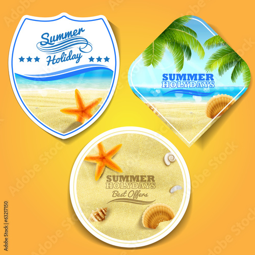 summer stickers holiday