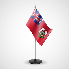 Table flag of Bermuda