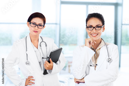 Young female doctors