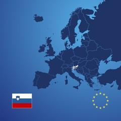 Slovenia map cover vector