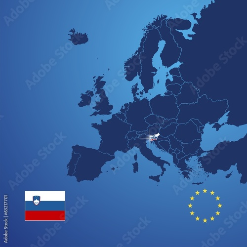 Slovenia map cover vector