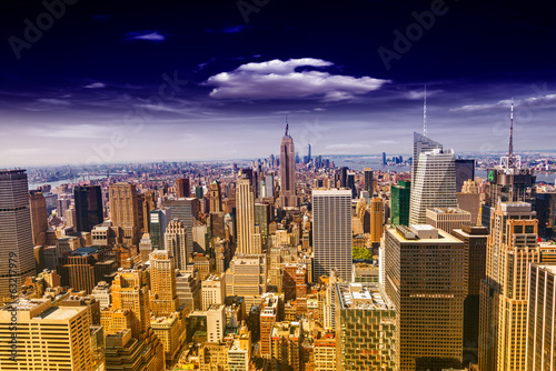 Beautiful view of  New York City skyline