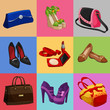 Women bags shoes and accessories collection