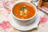 Fresh Tomato Soup with Cheese