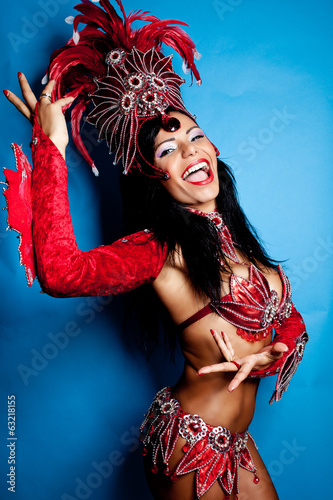 Brazilian Samba Dancer - 63218155