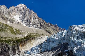 Argentiere Glacier in Mont Blanc, France