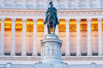 Statua equestre di Vittorio Emanuele II. Vittoriano