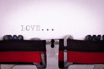 love letter written with a typewriter