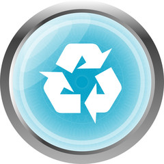 Icon Series isolated on white - Recycle Sign