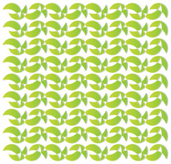 lime green crescent moon pattern