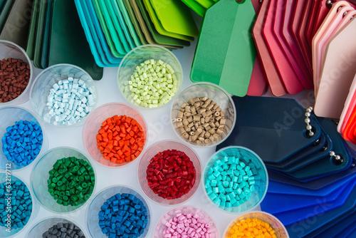 plastic polymer granulate - 63219712