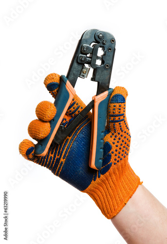 Crimp tool in hand