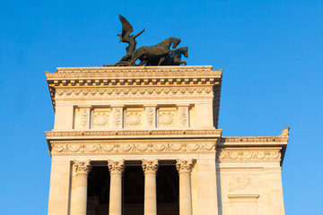 Quadriga dell'Unità, Carlo Fontana. Vittoriano,Roma