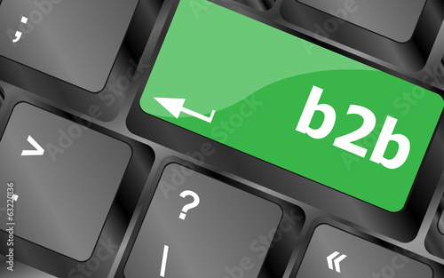 word b2b on digital keyboard key